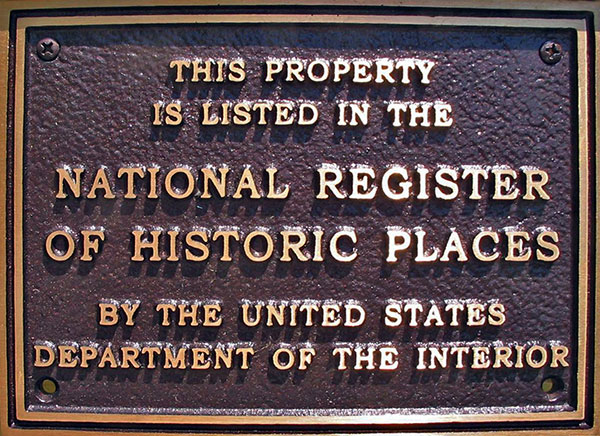 Wing-Northup House Registrar of Historic Places Plaque